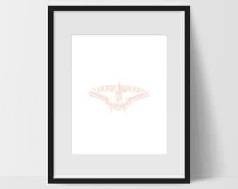 Butterfly Wall Art, Pink Wall Art, Butterfly Print Art, Butterfly Artwork, Butterfly Home Decor, Butterfly Wall Decor, Home Office