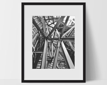 Wall Print Art, Architecture Art, Architecture Decor, Architect, 8x10, Abstract, Home Decor, Wall Decor, Black and White, Photography