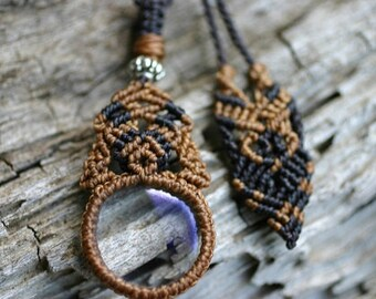 Macrame Pendant with Magnifying