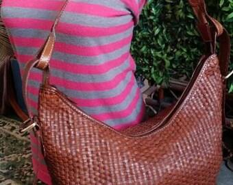Braided Hobo Leather Bag