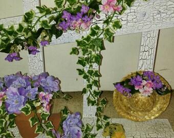 Wooden Shelf Floral