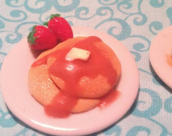 Pancake breakfast doll food 1:6 scale Blythe Barbie