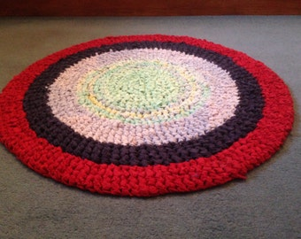 Chunky Round Crocheted Rug