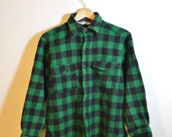 Vintage Wool Check Shirt/Jacket
