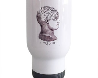 Travel Mug Phrenology Mind Design