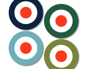 Target Coasters (Mixed Set of 4)