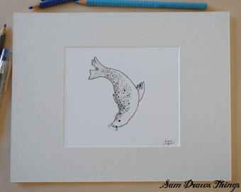 Mungo the Seal giclee print