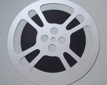 Movie reel die cut