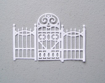 Gate and fence die cut