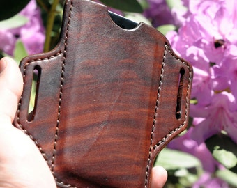 Handmade Leather iPhone Holster Case iPhone 6/6S/7, Brown