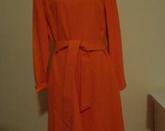 Vintage Kay Unger Orange Dress.