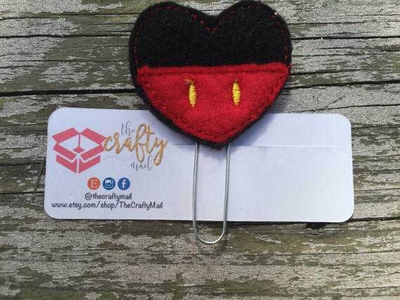 Mouse Inspired Clip/Planner Clip/Bookmark. Your choice of Mickey or Minnie