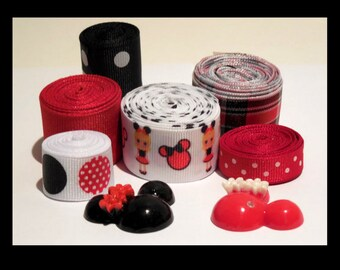 Minnie Mouse 12yd set with 2 embellishments