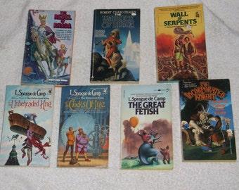 fantasy-the un beheaded king-lot of 7-by l. sprague de camp-1980s-GD