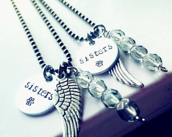 Sisters necklaces, sisters jewelry, necklace for sisters, matching sisters necklaces, best friend necklace, sister necklaces, matching