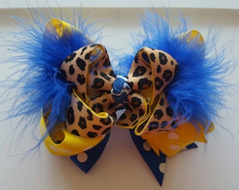 SU Jaguar Hairbow - Southern University and A&M College - Boutique Bow