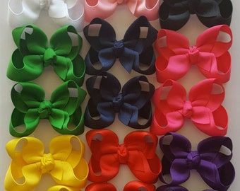 10 Small Twisted Boutique Hair Bows