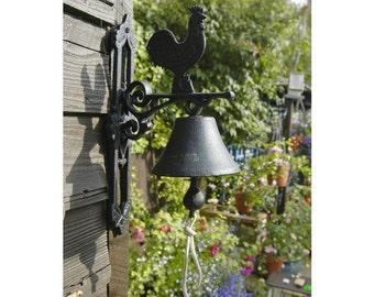 Cast Iron Garden Bell - Rooster
