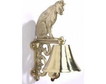 Cast Brass Bell - Cat