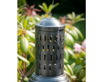 Pewter Hanging Candle Lantern