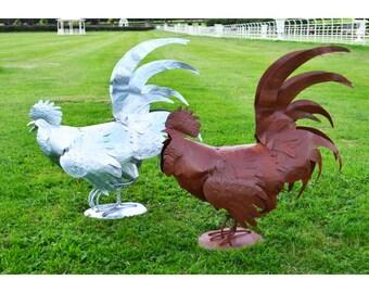 Bantum Rooster Large Garden Sculptures