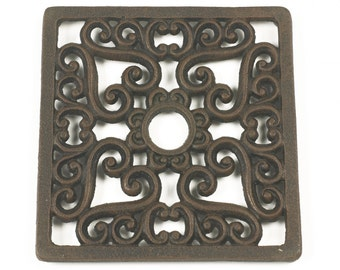 Trivet - Heavy duty V4 Square - Rust