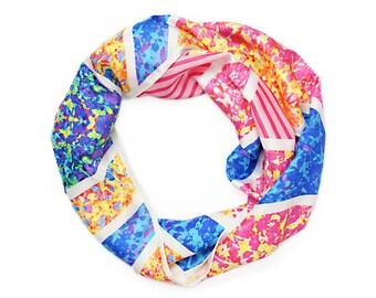 Eco Friendly Scarf / Silk Scarf / Colourful Scarf / Winter Scarf / Pink Scarf / Women's Scarf / Summer Scarf / Crystalline Silk Scarf