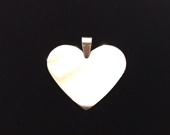 Big heart with possibility of custom engraving