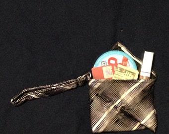 Upcycled Tie Wristlet