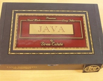 Java wooden Cigar box