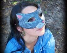 paper mache cat mask , nashana webb