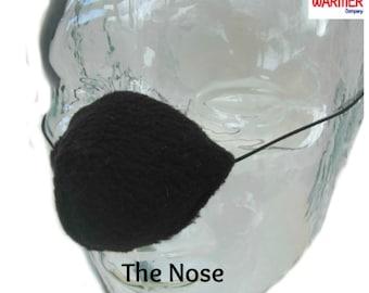 Nose Warmer, Black Fleece. Nosewarmer, Nose Cozy, Gag Gift, Secret Santa, Stocking Filler. Design Registered.