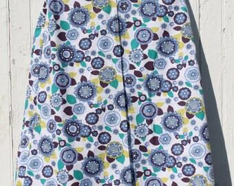 Modest Purple Flower Skirt