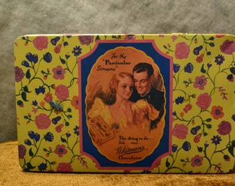 """Whitman's 150th Anniversary tin, limited edition, 1992. 8.75"""" x 5.5"""" Good condition."""