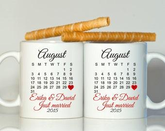 Custom just married gift, Just married mugs, Wedding gift, Newlywed gift, Gift for Newlywed, Hisa nd Hers mugs, Mr and Mrs mugs, Mr Mrs gift