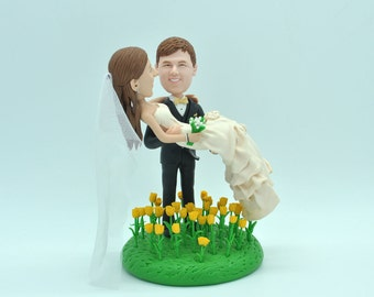 wedding cake topper personalized toppers funny cartoon pets bride & groom figure figurines