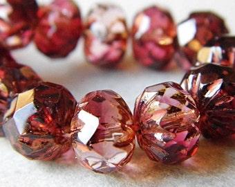 BACK IN STOCK..Merlot Crullers, Czech Beads, Beads, N1953