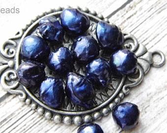 LAST ONES!! Steel Blue Pearl Beads, Jewelry Supplies