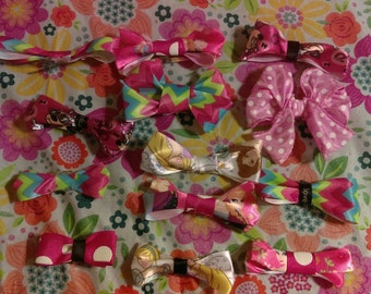 Small hairbows and clips