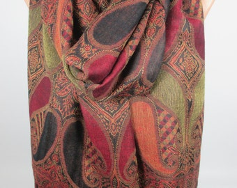 Pashmina Scarf Shawl Brown Pashmina Oversize Scarf Large Scarf Spring Scarf Women Fashion Accessories Gift Ideas For Her For Mom Mothers Day