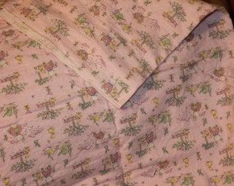 Bunny, Ducks & Trees Cotton Flannel Stroller Blanket