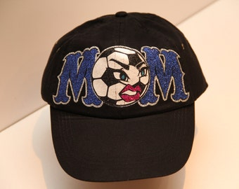 Soccer Mom Hat in Glitter Vinyl (made to order)