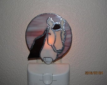Horse stained glass nightlight