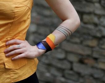 Handmade colourful leather bracelets
