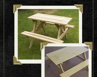 Two picnic table plans | Downloadable PDF file