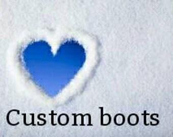 Custom baby boots