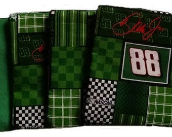 Dale Earnhardt Jr with Kelly Back Cornhole Bags
