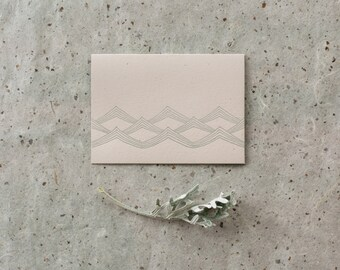 Letterpress Waves Notecard