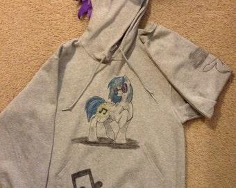 My Little Pony Friendships is Magic DJ PON3 (Vinyl Scratch) inspired hoodie