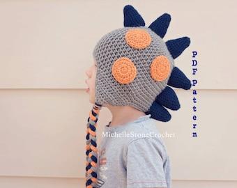 Crochet Dinosaur Hat Pattern